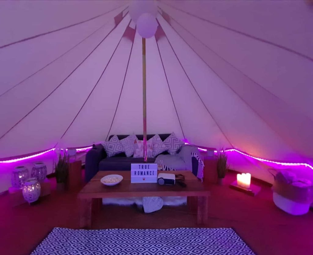 Bell Tent Hire With Movie